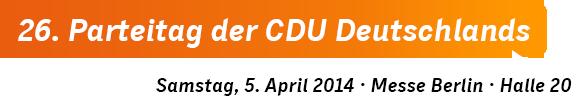 26. Parteitag der CDU Deutschlands